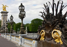 Paris's Pont Alexandre III Royalty Free Stock Images