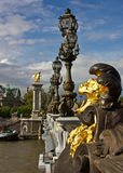 Paris's Pont Alexandre III and Grand Palais Royalty Free Stock Photo
