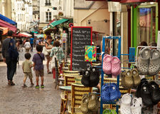 Paris's Rue Mouffetard Royalty Free Stock Photo