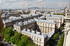 Paris's sky line 1. Paris sky line from the top of Notre Dame de Paris,France Stock Photos