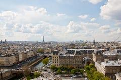 Paris's sky line 2. Paris sky line from the top of Notre Dame de Paris,France Stock Photo