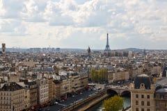 Paris's sky line 3. Paris sky line from the top of Notre Dame de Paris,France Stock Images