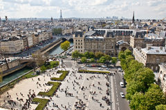 Paris's sky line 4. Paris sky line from the top of Notre Dame de Paris,France Royalty Free Stock Photos