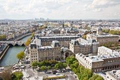 Paris's sky line 6. Paris sky line from the top of Notre Dame de Paris,France Royalty Free Stock Photo