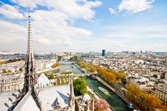Paris's sky line 7. Paris sky line from the top of Notre Dame de Paris,France Stock Images