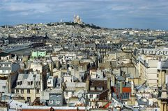 Paris sacre coeur basilica Royalty Free Stock Photos