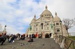 Paris Sacre Coeur domkyrka Arkivfoton