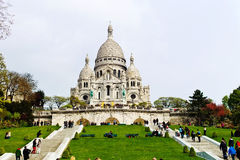 Paris. sacre coeur on montmartre Royalty Free Stock Photography