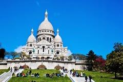 paris Sacre Coeur в Montmartre Стоковые Изображения