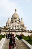 Paris. sacre coeur in montmartre Royalty Free Stock Photo
