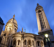 Paris - Sacre-couer in evening Royalty Free Stock Images
