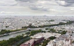Paris sah von der Oberseite des Eiffelturms an Stockfotografie