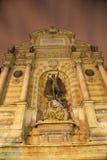 Paris - Saint Michael fountain Stock Photo