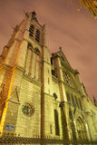 Paris - Saint Severin gothic church Stock Photo