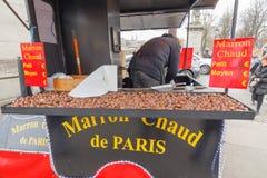 Paris. Sale of chestnuts. Stock Photo