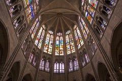 Paris - sanctuary of Saint Denis cathedral. Paris - sanctuary of Saint Denis gothic cathedral Stock Image