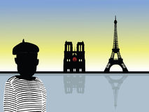 Paris scenery vector Stock Image