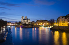 Paris scenic view on Notre-Dame Stock Images