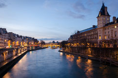 Paris scenic view on Seine Stock Photography