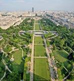 Paris-schöne Plätze - Champ de Mars Stockfoto