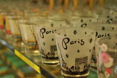 Paris-Schnapsgläser Stockbilder