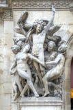 Paris. Sculptures on the facade of the Opera Garnier. Sculptural Royalty Free Stock Photography