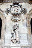 Paris. Sculptures and high reliefs on the facade of Opera Garnie Royalty Free Stock Images