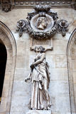 Paris. Sculptures and high reliefs on the facade of Opera Garnie Royalty Free Stock Image