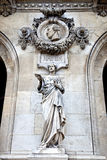 Paris. Sculptures and high reliefs on the facade of Opera Garnie Stock Photo