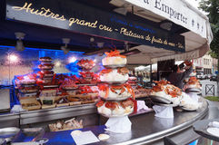 Paris Seafood Restaurant Stock Images
