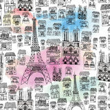 Paris seamless modell Arkivfoton