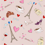 Paris seamless pattern Royalty Free Stock Photography