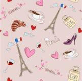 Paris seamless pattern vector illustration