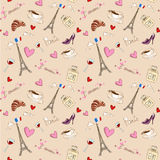Paris seamless pattern Stock Photography