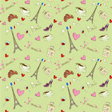 Paris seamless pattern Royalty Free Stock Image