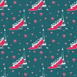Paris seamless pattern Royalty Free Stock Photo