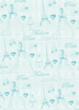 Paris seamless pattern Stock Images