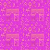 Paris Seamless Pattern Royalty Free Stock Photo