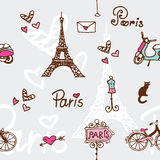 Paris seamless pattern - background paper Royalty Free Stock Image