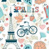 Paris seamless pattern Stock Photo