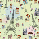Paris seamless pattern Royalty Free Stock Photography