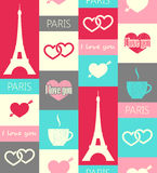Paris seamless pattern Stock Photos