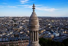 Paris seen from Basilica de Sacre Coeur church. France Royalty Free Stock Images