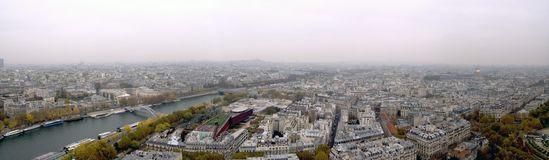 Paris seen from the Tower of Eiffel Royalty Free Stock Images