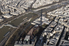 Paris and the Sein from the Tour Eiffel Stock Image