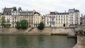 Paris. By the Seine royalty free stock photo