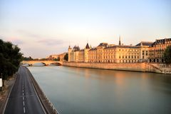 Paris Seine Cityscape Stock Photo