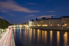 Paris Seine Conciergerie Stock Image