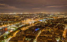 Paris and the Seine from the Eiffel Tower. Paris and the Seine as seen from the Eiffel Tower. France Stock Image