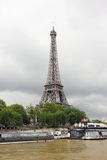Paris_seine_eiffel tower. The Eiffel tower of Paris seen from the Seine Royalty Free Stock Photos